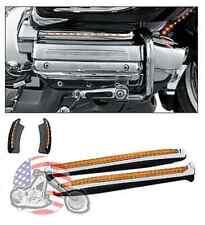 Kuryakyn Chrome Fairing Mirror Run Turn Led Light Accent Trim Kit Honda Goldwing