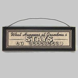 WHAT-HAPPENS-AT-GRANDMA-039-S-STAYS-AT-GRANDMAS-sign-funny-grandparent-plaque