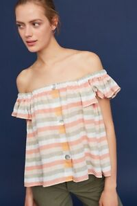 e3cde962d2de Image is loading New-Anthropologie-Becka-Convertible-Off-Shoulder-Top-by-