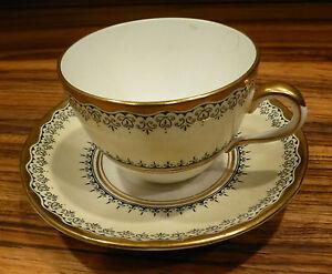 Vintage porcelain tea cup / saucer, english-staffordshire, Crown [Y8-W6-A9-E9]