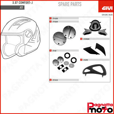 Givi/ /Meccanismo visiera completo z716r