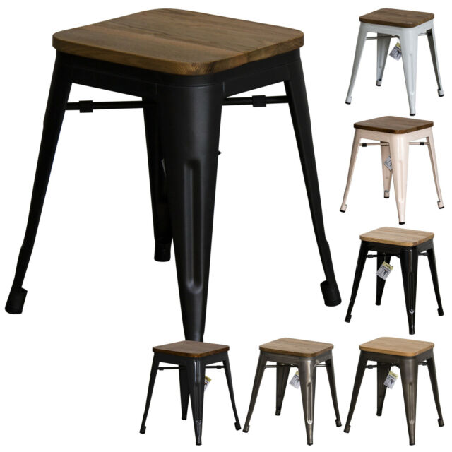 Wondrous Tolix Style Rustic Vintage Metal Bar Stool Design Kitchen Dining Seat Furniture Caraccident5 Cool Chair Designs And Ideas Caraccident5Info