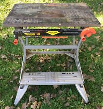 Groovy Vintage Black Decker Workmate Deluxe Portable Work Table Machost Co Dining Chair Design Ideas Machostcouk