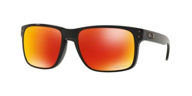 5013fb58c4 Sunglasses Oakley Holbrook 9102-f1 Polished Black Prizm Ruby ...