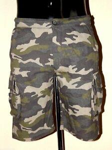 Descuento 50% Penn-Rich Bermudas Cargo En Sudadera Mimético Short Shorts