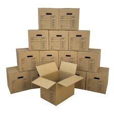 Uboxes Moving Boxes With Handles 15 Premium Small 16 38 X 12 58 X 12 58