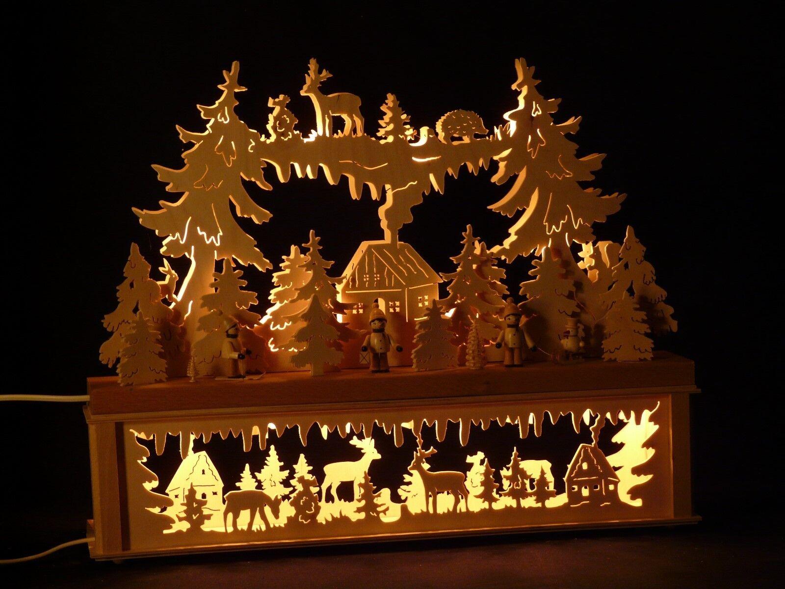 Schwibbogen Schwibbogen Schwibbogen Lichterbogen mit Erhöhung made Erzgebirge Seiffen P-KB324   | Primäre Qualität  | Attraktives Aussehen  551110
