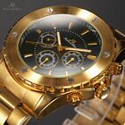KS Fashion Classic Day Date Stainless Steel Automatic Mechanical Men Wrist Watch