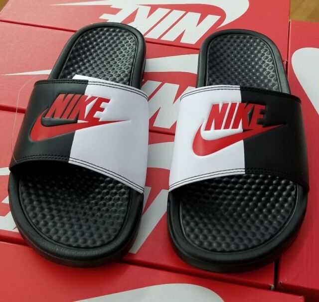 Nike Men s Benassi JDI Slide and Original Black Game Red White 11 ... 7f3aa0fc1
