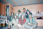 KODACHROME Red Border Slide 1950s Lots of People Drunk Pretty Woman Men Camera
