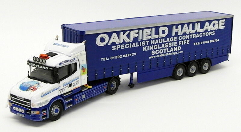 Corgi 1 50 Scale Model CC12811 - Scania T Cab Curtainside - Oakfield Haulage