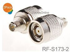 2-Pack RP-SMA Female to RP-TNC Male RF Adapter, CablesOnline RF-S173-2