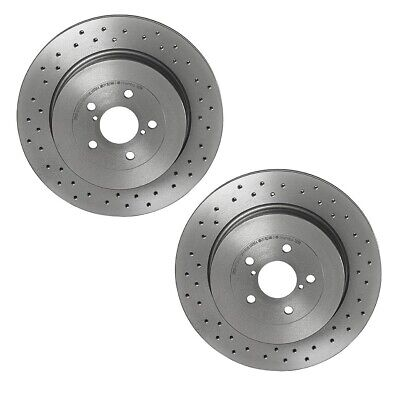 for Impreza WRX Turbo Rear Brake Depot Drilled Discs and Mintex Pads 290mm