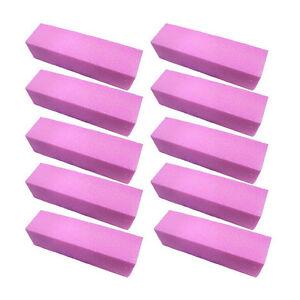5-10-Pink-polissage-poncage-Bloc-tampon-fichiers-acrylique-nail-art-manucure