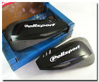 POLISPORT DEFENDER BLACK MOTORCYCLE HAND GUARDS PROTECTORS ONLY. NO HARDWARE