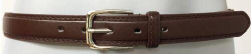Mens Leather Belt Black Brown Thin Dress Belt Silver Buckle S M L XL XXL