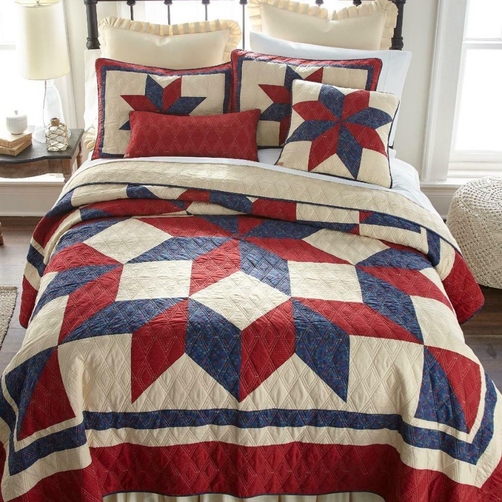 damen Sharp Gatlinburg Star Quilted Rustic Cabin Country Lodge KING Quilt New
