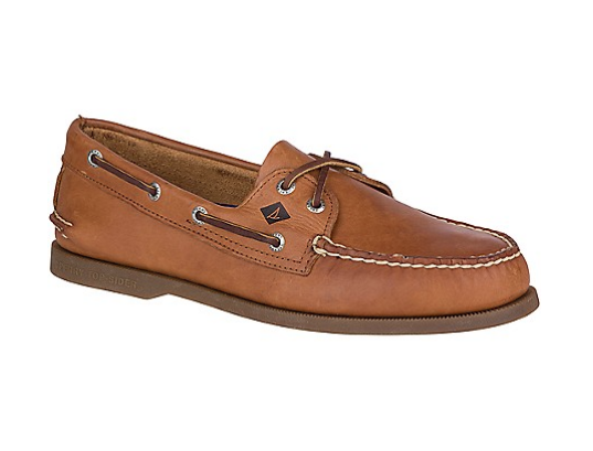 New Sperry Uomo Authentic Original Sahara 2 Eye Leather Boat Shoe Size 12