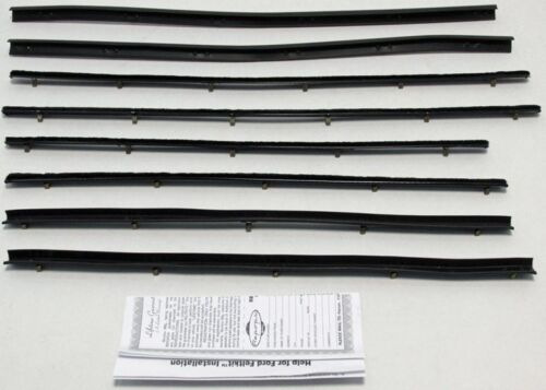 1966-1967 Ford Fairlane 4 Door Sedan Repops Window Felt Weatherstrip Kit 8 pcs