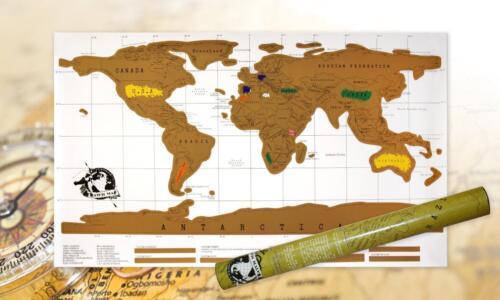 Rubbel Weltkarte zum Rubbeln Poster Karte Landkarte Weltkarte zum freirubbeln