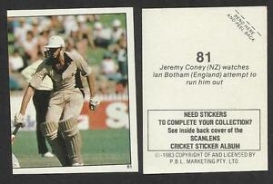 AUSTRALIA-1983-SCANLENS-CRICKET-STICKERS-SERIES-2-JEREMY-CONEY-NZ-81