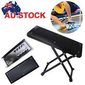 ashtec guitarist s footstool adjustable guitar guitarist foot stool rest stand ebay. Black Bedroom Furniture Sets. Home Design Ideas