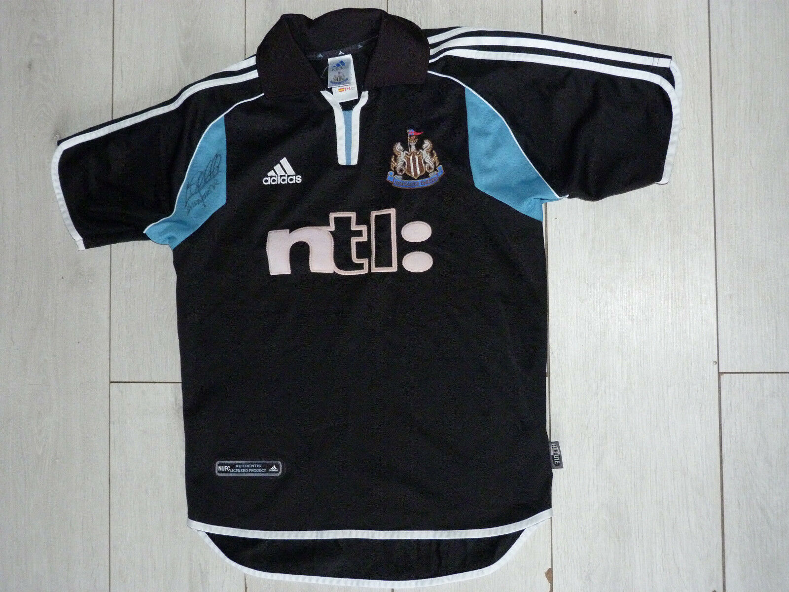 Maillot signé jersey NEWCASTLE UNITED FC signed KEVIN GALLACHER ultras foot