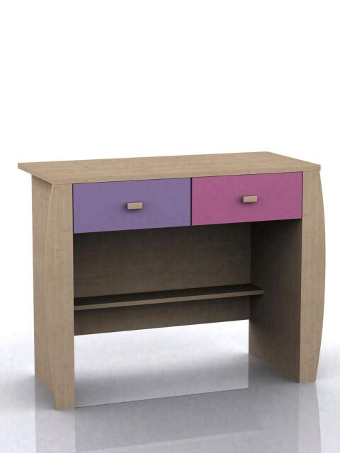 Sydney Pink 2 drawer desk dresser dressing table children's playroom bedroom new