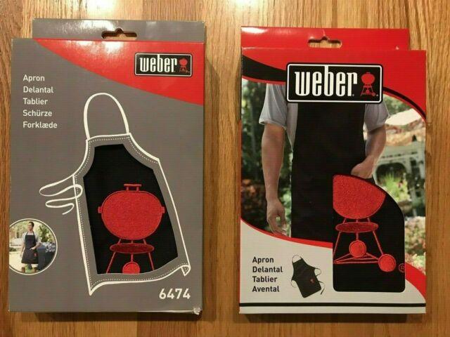 Weber APRON RED W BLK KETTLE