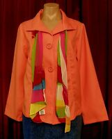 6202 Nice W/tags $42 'apparenza' Lightweight Summer Jacket W/scarf Size M