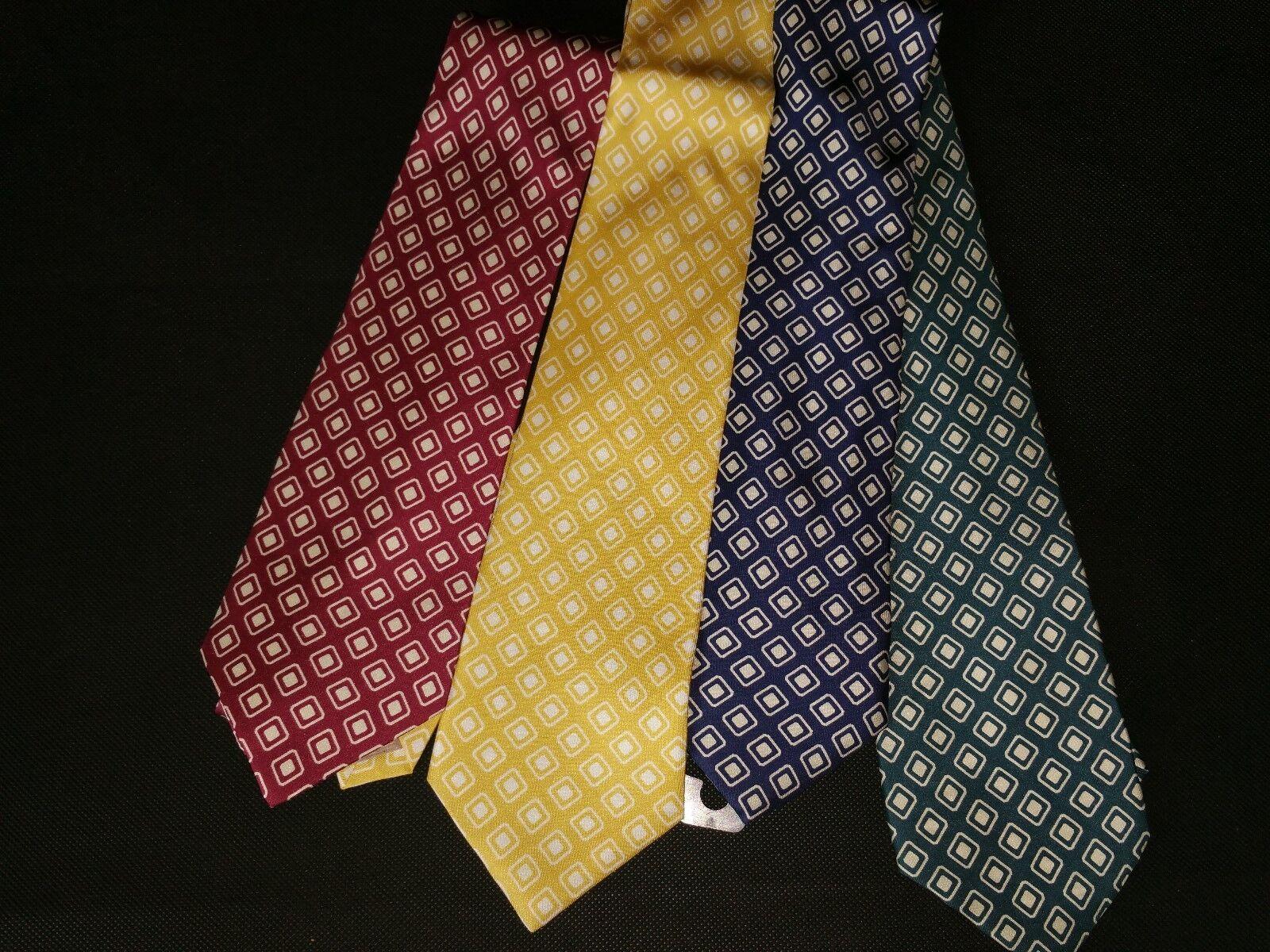 Vintage Original Bogner Silk Necktie Tie 90er Red Blue Green Yellow Silk Tie