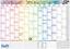 Wandkalender Schuljahr 2020//2021 groß A1 gefalztSchuljahreskale 89 x 63cm