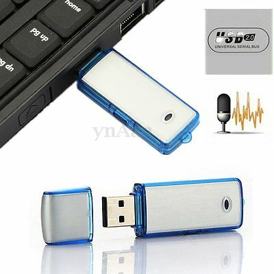 Mini 8GB USB Disk Pen Drive Digital Audio Voice Hidden Recorder 160 hrs Record