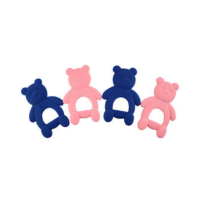 Cute Safe Natural Wooden Animal Shape Ring Baby Teether Teething Shower Toy KV