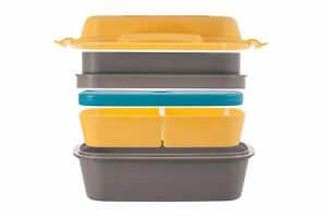 Multi-Compartment-Lunchbox-with-Removable-Containers-and-Ice-Pack