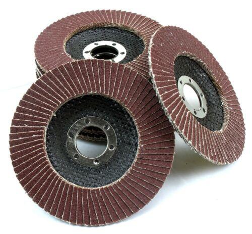 "10pc 4-1//2/"" 100 Grit Flat Aluminum Oxide Flap Disc Grinding Wheel Sanding Disc"