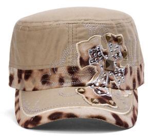 TopHeadwear-Animal-Print-Cross-Distressed-Cadet-Cap