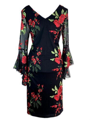 Frank Lyman 189174 Abendkleid mit feinen Stickereien Etui Glockenärmel UVP 279€