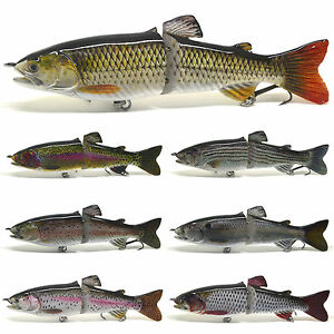 7 Inches Pike Muskie Fishing Lure Bait Swimbait Life-like Trout