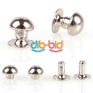100Pcs-5mm-Mushroom-Round-Spike-Rivet-Studs-Punk-Bracelet-Bag-Leather-Craft-EDUK