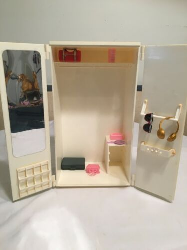 Vintage Barbie armoire wardrobe furniture 1970s ra