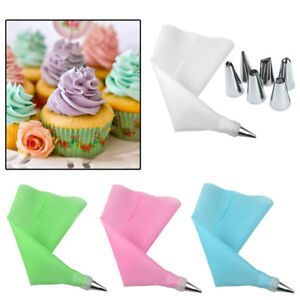 UK-8X-Silicone-Icing-Piping-Cream-Pastry-Bag-with-6Pcs-Stainless-Steel-Nozzle-IL