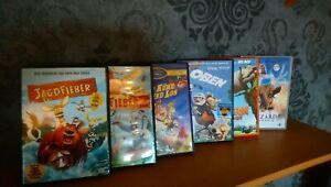 DVD-Sammlung-Kinderfilme-Jagdfieber-Horton-hoert-ein-Huhn-Kuehe-sind-los-6-Filme
