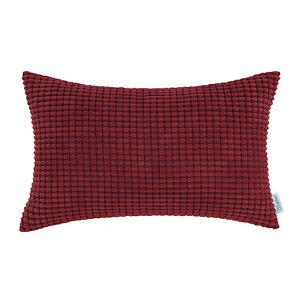 Rectangle-Bolster-Pillow-Throw-Cushion-Cover-Shells-Corduroy-Corn-Stripes-12x20-034