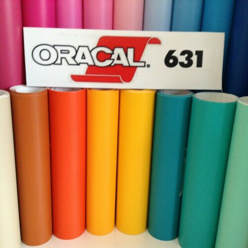"20 rolls 12/""x 2 ft.// roll Oracal 631 Matte Colors Vinyl Sign /& Craft Cutter"