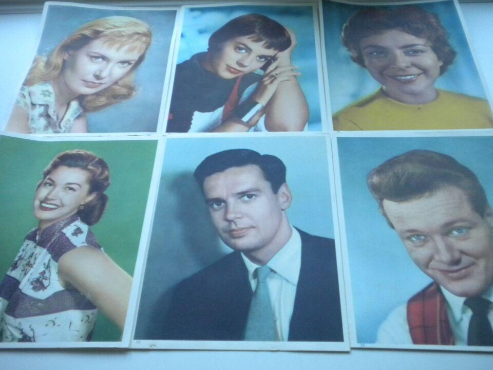 Andre samleobjekter, gamle film+sanger portrætter