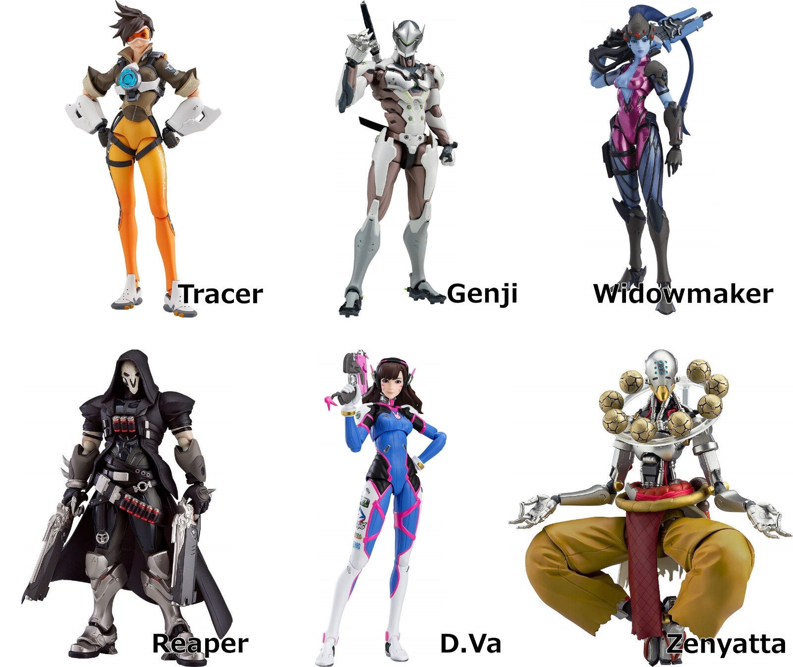Figma fps  game Overregarder action figure Good Smile Company Tracer Genji Widowmake  articles promotionnels
