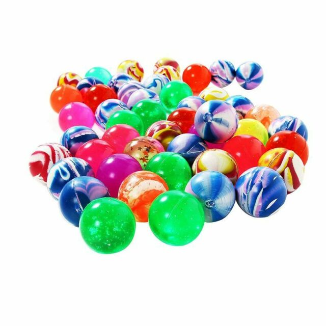 BOUNCY BALLS HIGH BOUNCE SUPER FAST SHIPPING! 50 SOLID COLOR 27MM SUPERBALLS