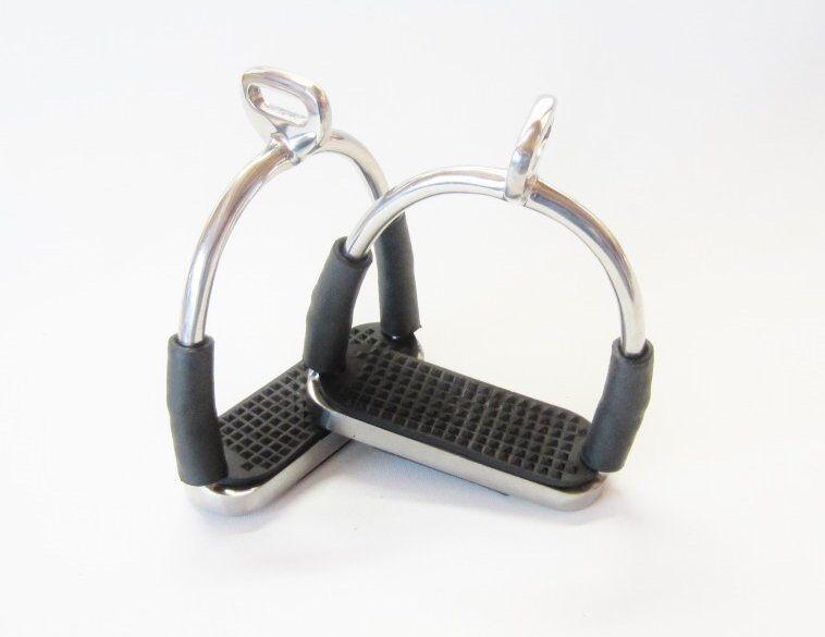 Sicherheits-Steigbügel avec Articulations - silver 90° Tordu
