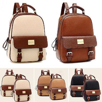 PU Leather Women's Backpack Korean Style Student  Bookbags Travel Bag New